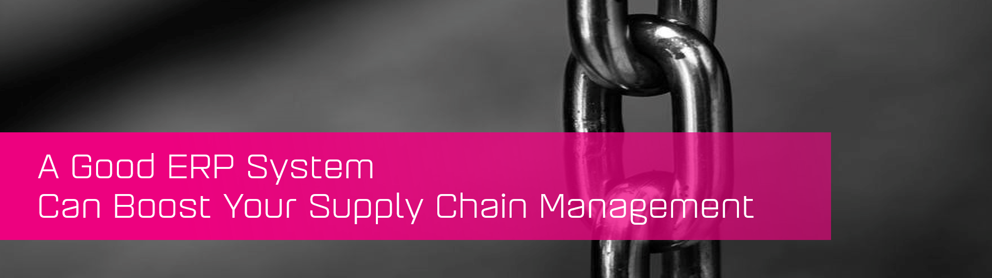 KCS SA - Blog - A Good ERP System boost Supply Chain banner